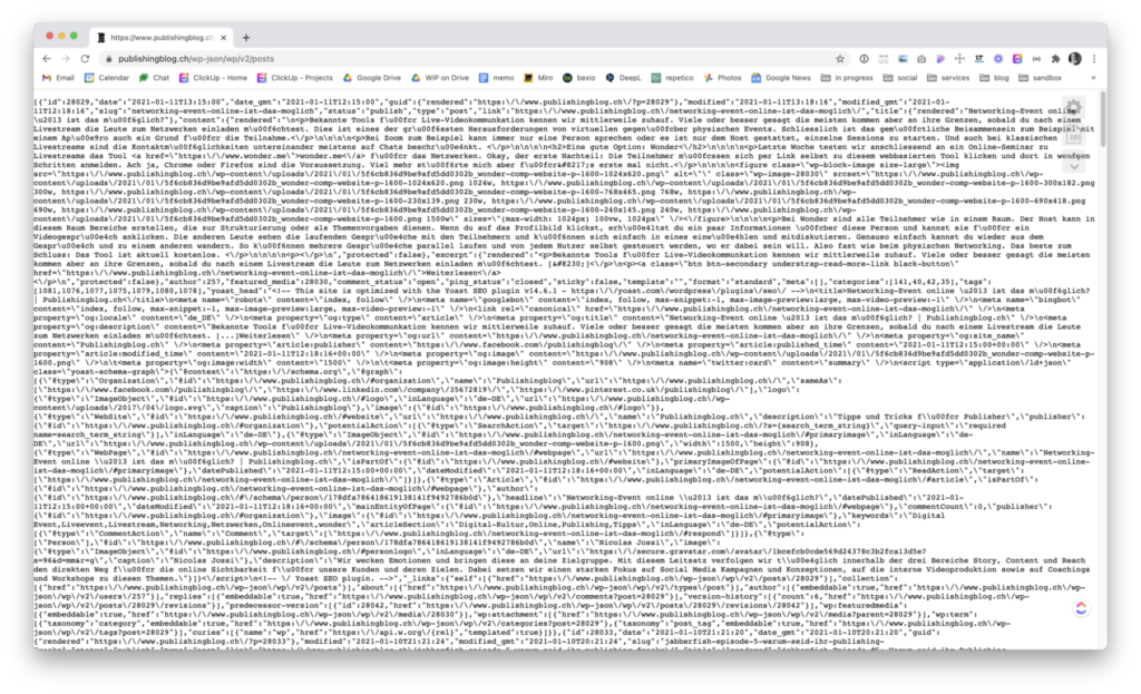 JSON in Google Chrome